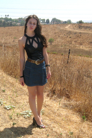 vintage dress - Target skirt - vintage belt - Ross shoes