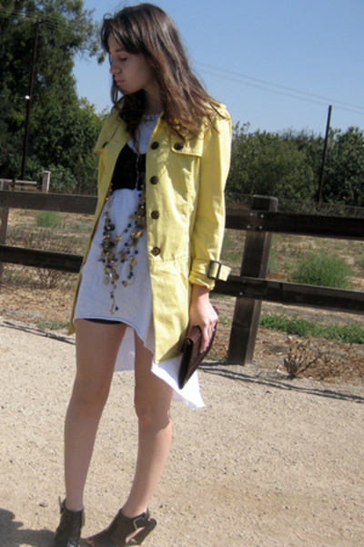 oldnavy jacket - forever 21 dress - Urban Outfitters bra - American Apparel shor