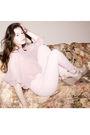 Pink-vintage-blouse-beige-american-apparel-intimate-pink-american-apparel-pa