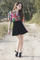 vintage blouse - vintage skirt - forever 21 shoes