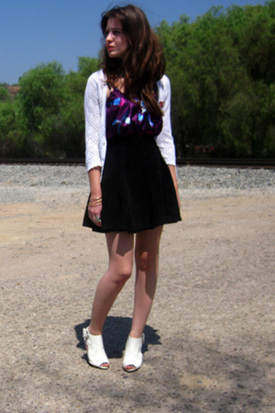 f21 shirt - vintage jacket - vintage skirt - f21 shoes