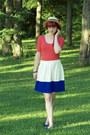 Polka-dot-forever-21-hat-color-block-forever-21-skirt-forever-21-bodysuit