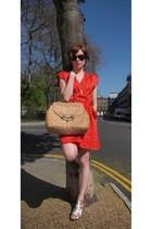vintage dress dress - vintage bag The Bucket Tree bag - Chanel sunglasses