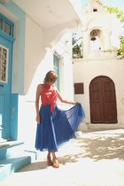 Zara skirt - Chanel sunglasses - Little independent shop in Kos Town sandals