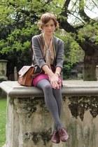 vintage from Ebay bag - Topshop skirt - thrifted vintage blouse - thrifted vinta
