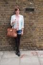 Vintage-rokit-jacket-mulberry-bag-vintage-rokit-shorts-topshop-blouse-ka