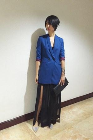 Melissa shoes - from hong kong blazer - Zara skirt