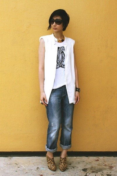 Zara pants - Payless boots - Zara vest
