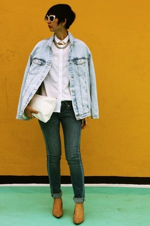 Zara jacket - Payless shoes - Levis jeans - Zara bag - Prada sunglasses