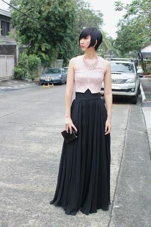 Frankie de Leon skirt - from hong kong bag - Miss Selfridge top - H&M necklace