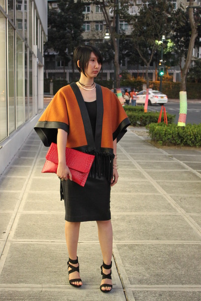 from hong kong jacket - Jessica Simpson shoes - 33 Field Trip bag - Zara skirt