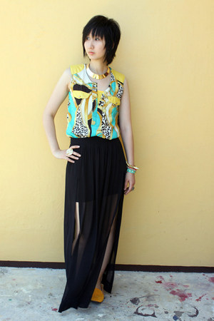from taiwan top - Rubi shoes shoes - Miss Sartorial necklace - Zara skirt