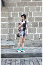 I love Billy shoes - Dangerfield hat - from hong kong blazer - Zara shorts - Mon