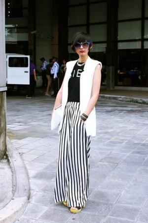 Zara bag - Joy & Peace shoes - from hong kong top - Zara pants - Zara vest