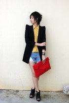 from hong kong blazer - from Seoul bag - Millies wedges