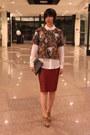 Payless-boots-mango-shirt-zara-skirt-h-m-top