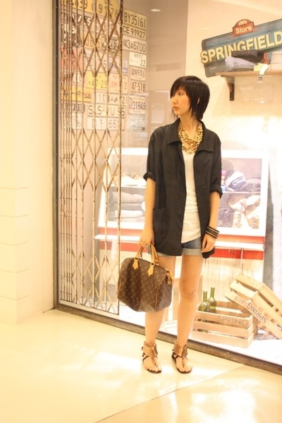 Zara shorts - Venilla Suite shoes - Hong Kong blazer