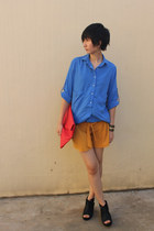 Zara shirt - from Seoul bag - Millies wedges