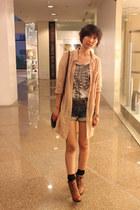 Nine West boots - H&M shirt - Promod shorts - Zara top