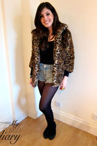 Bershka jacket - Topshop shorts - Repetto shoes