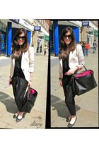 Zara blazer - whistles pants - truly madly deeply t-shirt - Repetto shoes - Fend