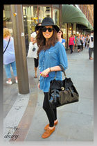 Topshop shirt - Office shoes - YSL purse