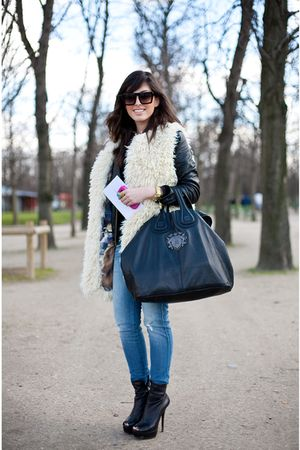 Siwy Denim jeans - Gucci shoes - Givenchy purse - Manoush vest - acne jacket