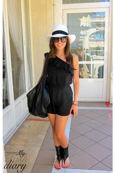 Office shoes - Topshop jumper - Saint Tropez hat - Jill Sander bag