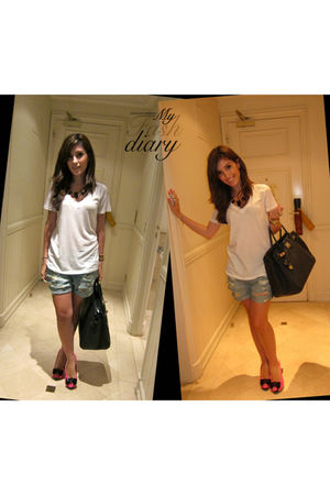 Philip Plein shoes - Topshop shorts - Truly Madly deply shirt - Hermes bag