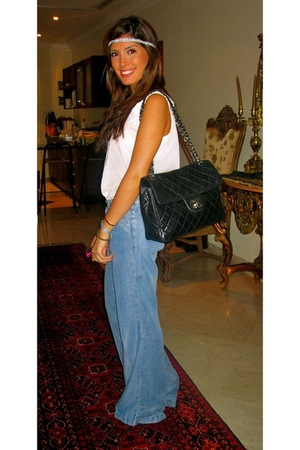Chanel maxi accessories - Flared denim jeans jeans - headband accessories