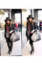 Givenchy Nightingale purse - Zara boots - Aquascutum coat - Sonia Rykiel hat - M