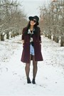 Black-boots-crimson-thrifted-vintage-coat-black-hat