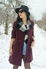 Black-boots-crimson-thrifted-vintage-coat-black-hat