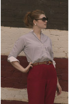 Anne Klein blouse - thrifted vintage pants