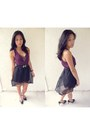 Purple-diy-top-black-diy-skirt