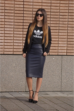 black New Yorker jacket - black Freyrs sunglasses - navy Zara skirt