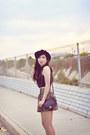 Floral-forever-21-skirt-burnt-orange-suede-vintage-boots