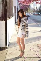 light pink crossbody Zara bag - heather gray fringed Schutz heels