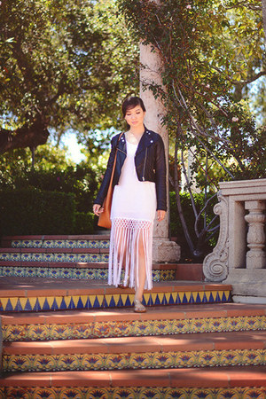white fringed RVCA dress