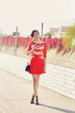 red lace style moi dress