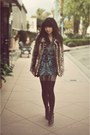 Black-deena-ozzy-shoes-blue-motel-dress-light-brown-forever-21-coat-blac