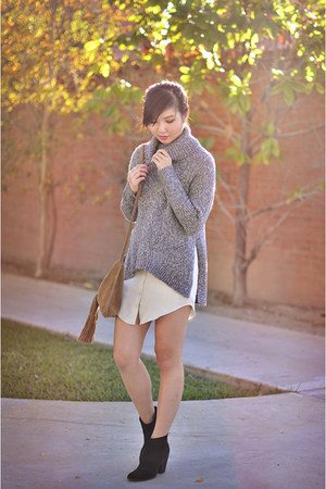 charcoal gray cozy turtleneck Forever 21 sweater