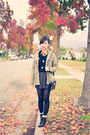 Black-forever-21-sweater-olive-green-matix-jacket