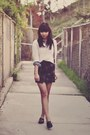Cream-cropped-forever-21-sweater-gray-tartan-sheinside-skirt