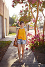 Sky-blue-slasher-flick-minkpink-shorts-gold-ruffled-crop-zara-top