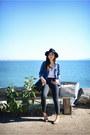 Black-gap-jeans-navy-denim-madewell-shirt