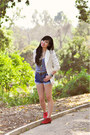 Ivory-lovers-friends-blazer-blue-501-levis-shorts