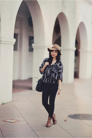 black boho blouse free people shirt