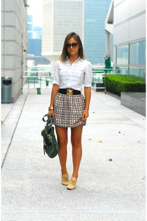 Club Monaco skirt - Repettos shoes - Massimo Dutti shirt - Gucci belt