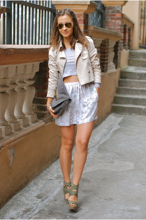 Zara jacket - Mulberry bag - Something Else shorts - Jean-Michel Cazabat wedges